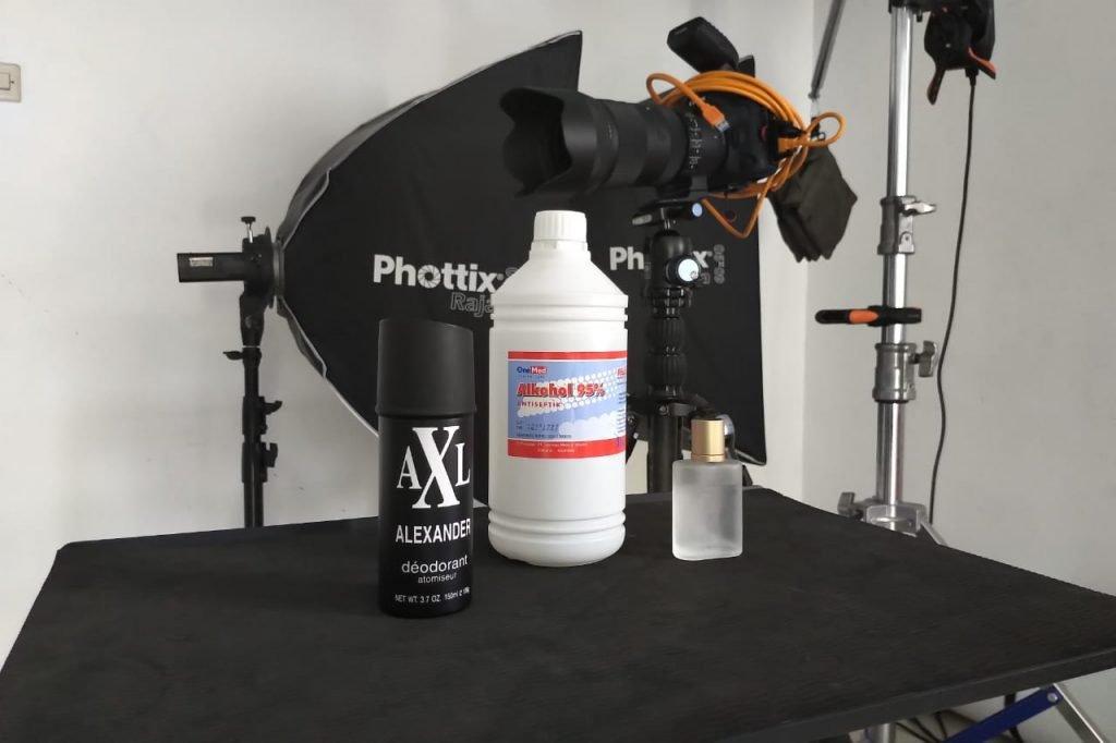 Sterilisasi Sampel Produk Menggunakan Alkohol 95% - Shaniba Creative Industry